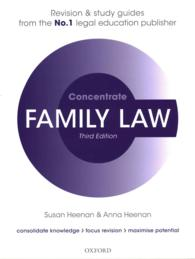Family Law Concentrate : Law Revision and Study Guide (Concentrate) (3 STG)