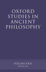 Oxford Studies in Ancient Philosophy 〈31〉