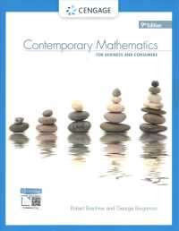 Contemporary Mathematics for Business and Consumers (9TH)