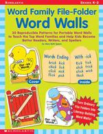 Word Family File-Folder Word Walls
