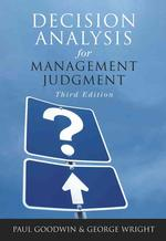 Decision Analysis for Management Judgment (3 SUB)