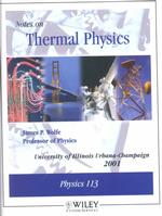 Notes on Thermal Physics : Physics 113, 2001 (5 SPI SUB)