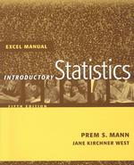 Introductory Statistics : Excel Manual (5 SUB)