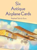 Six Antique Airplane Cards