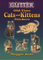 Glitter Old-time Cats and Kittens Stickers (Dover Stickers) -- Paperback / softback