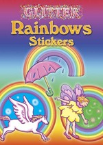 Glitter Rainbows Stickers -- Paperback / softback
