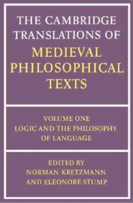 Logic and the philosophy of language : pbk The Cambridge translations of medieval philosophical texts