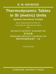 Thermodynamic Tables in Si (Metric Units) (3 SUB)