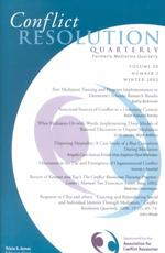 Conflict Resolution Quarterly : Winter 2002 (J-b Mq Single Issue Mediation Quarterly) 〈20〉