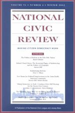 National Civic Review Winter 2002 : Making Citizen Democracy Work (J-b Ncr Single Issue National Civic Review) 〈91〉
