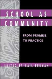 School as Community : From Promise to Practice (Suny Series in Educational Leadership)