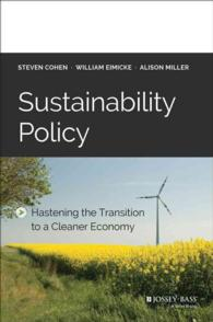 Sustainability Policy : Hastening the Transition to a Cleaner Economy