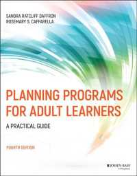 Planning Programs for Adult Learners : A Practical Guide (4TH)