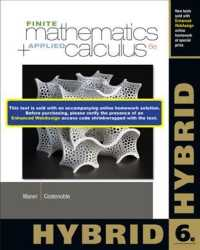Finite Mathematics and Applied Calculus, Hybrid (6 PCK PAP/)