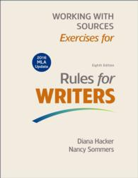 Working with Sources : Exercises for Rules for Writers - Mla Update Edition (8 Updated)