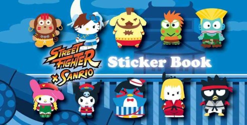 Street Fighter X Sanrio Sticker Book (CSM NOV ST)