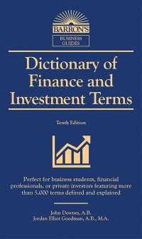 Dictionary of Finance and Investment Terms (Barron's Business Dictionaries) (10TH)