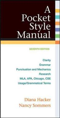 A Pocket Style Manual : Clarity, Grammar, Punctuation and Mechanics, Research, Mla, Apa, Chicago, Cse Usage/Grammatical Terms (7 SPI)
