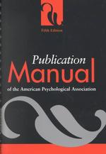アメリカ心理学会(APA)論文マニュアル(第5版)
