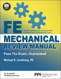 Fe Mechanical Review Manual : Rapid Preparation for the Mechanical Fundamentals of Engineering Exam