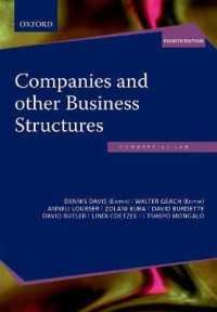 Companies and other Business Structures in South Africa -- Paperback / softback (4 Revised)