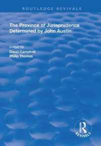 The Province of Jurisprudence Determined by John Austin (Routledge Revivals)