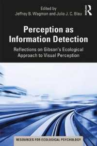 Perception as Information Detection : Reflections on Gibsons Ecological Approach to Visual Perception (Resources for Ecological Psychology)