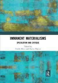 Immanent Materialisms : Speculation and Critique