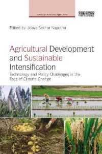 Agricultural Development and Sustainable Intensification : Technology and Policy Challenges in the Face of Climate Change