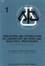 Evaluation and Optimization of Laboratory Methods and Analytical Procedures -- Paperback