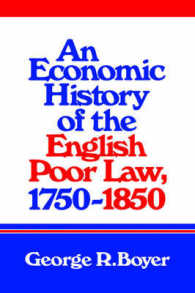 An Economic History of the English Poor Law, 1750-1850