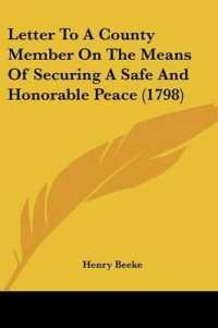 Letter to a County Member on the Means of Securing a Safe and Honorable Peace