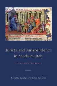 Jurists and Jurisprudence in Medieval Italy : Texts and Contexts (Toronto Studies in Medieval Law)
