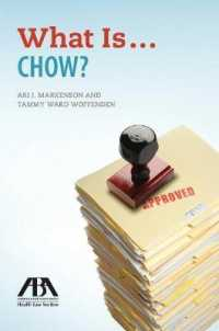 What Is...chow? (American Bar Association Health Law Section)