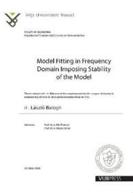 Model Fitting in Frequency Domain Imposing Stability of the Model