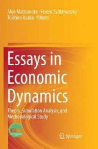 Essays in Economic Dynamics : Theory, Simulation Analysis, and Methodological Study (Reprint)