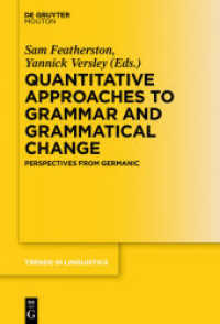 Quantitative Approaches to Grammar and Grammatical Change : Perspectives from Germanic (Trends in Linguistics. Studies and Monographs [TiLSM] Vol.290) (2016. X, 340 S. 230 mm)