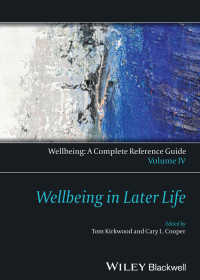 Wellbeing: A Complete Reference Guide, Wellbeing in Later Life〈Volume IV〉