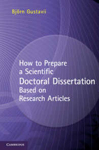 科学系博士論文の書き方:既発表論文にもとづく場合<br>How to Prepare a Scientific Doctoral Dissertation Based on Research Articles