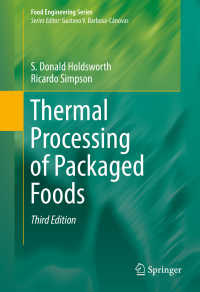 包装食品の熱処理(第3版)<br>Thermal Processing of Packaged Foods〈3rd ed. 2016〉(3)