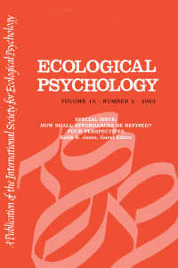 How Shall Affordances Be Refined? : Four Perspectives:a Special Issue of ecological Psychology