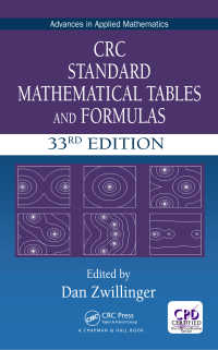 CRC数学表・公式ハンドブック(第33版)<br>CRC Standard Mathematical Tables and Formulas, 33rd Edition(33 NED)