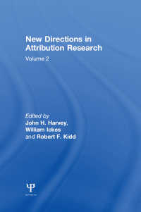 New Directions in Attribution Research : Volume 1