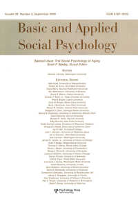 The Social Psychology of Aging : A Special Issue of basic and Applied Social Psychology