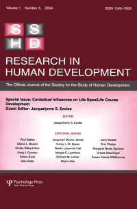 Contextual Influences on Life Span/life Course : A Special Issue of Research in Human Development