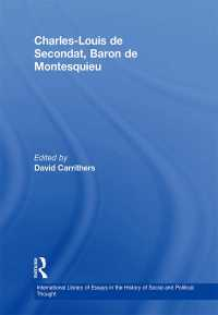 モンテスキュー研究論文集<br>&quot;Charles-Louis de Secondat, Baron de Montesquieu                                                                                                                                               &quot;