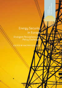 欧州のエネルギー安保<br>Energy Security in Europe〈1st ed. 2018〉 : Divergent Perceptions and Policy Challenges