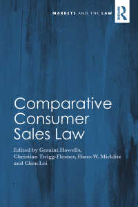 比較消費者売買法<br>Comparative Consumer Sales Law