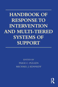 RTI・MTIハンドブック<br>Handbook of Response to Intervention and Multi-Tiered Systems of Support