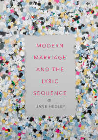 Modern Marriage and the Lyric Sequence〈1st ed. 2018〉